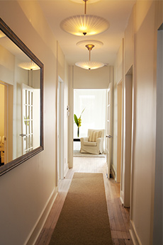 Corridor de l'Institut Relaxe Beauté!